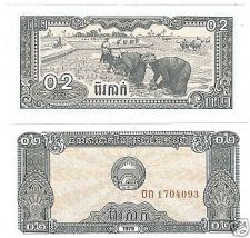 Buy CAMBODIA 1979 0.2 RIEL FARMING BY HAND UNC NOTE~GREAT~