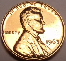 Buy United States Proof 1963 Cent~We Have Hundreds Of Proof Coins~Free Shipping