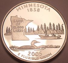 Buy Awesome Cameo Proof 2005-S Minnesota State Quarter~Free Shipping Included~