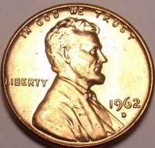 Buy United States Unc 1962-D Lincoln Memorial Cent~Free Shipping