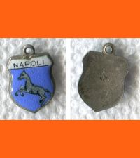 Buy NAPOLI Enamel & Silver Travel Shield Souvenir Charm