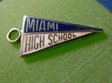 Buy MIAMI HIGH SCHOOL KINNEY Sterling Silver & Enamel Charm