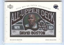 Buy NFL 2003 UD Patch Collection David Boston Patch MNT