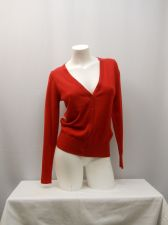 Buy Faded Glory Womens Cardigan Size S Solid Red Button Front Long Sleeves Thin Knit