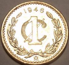 Buy Rare Gem Unc Mexico 1946 Centavo~We Have Rare Mexican Coins~Awesome~Free Ship