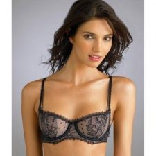Buy A0280B Felina NEW Nicole Unlined Embroidered Lace Sheer Mesh UW Demi Bra 5109 PR