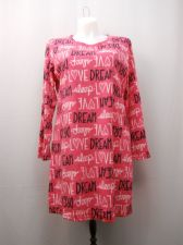 Buy SIZE XL 16 18 Womens Sleep Shirt MICRO FLEECE Long Sleeves Pullover Verbiage