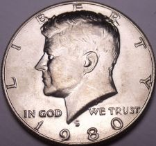 Buy United States Unc 1980-D Kennedy Half Dollar~Free Shipping