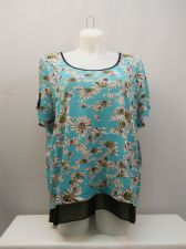 Buy NY Collection Floral Scoop Neck Short Sleeves Tunic Top Plus Size 1X
