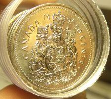 Buy Gem Unc Roll (20 Coins) Canada 1994 50 Cent Coins~Elizabeth II~Free Shipping