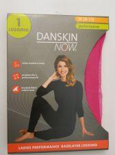 Buy Danskin Now Ladies Performance Baselayer Leggings Size M 8-10 Pink Tagless