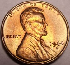 Buy United States 1944-S Unc Lincoln Wheat Cent~Free Shipping