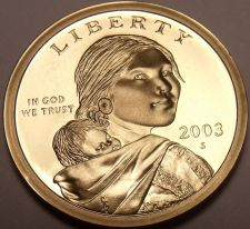 Buy United States 2003-S Sacagawea Cameo Proof Dollar~See R Proofs~Free Shipping