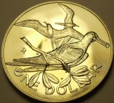 Buy Rare Unc British Virgin Islands 1975-U Dollar~Frigate~Only 2,351 Minted~Free Shi