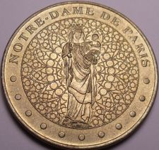 Buy Large France Medallion Year 2002~NOTRE DAME CATHEDRAL PARIS~Historic~Free Ship
