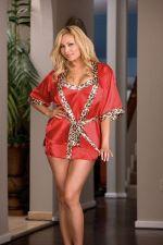Buy Dreamgirl Plus Size 1x/2x -3x/4xLeopard Print Robe w/ Matching Babydoll &Thong