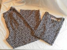 Buy Womens Chaus 2 Piece Lightweight Pant Set Size 10 Casual Navy White Floral