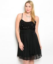 Buy C.O.C. Black Jeweled Party Formal Bridesmaid Prom Dress Plus Size 1XL-3XL