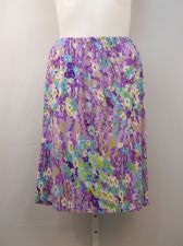 Buy PLUS SIZE 2X Womens Skirt HABAND Multi Colored Floral Knee Length Elastic Waist