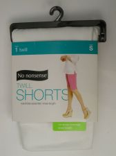 Buy SIZE S 4 6 Womens Twill Boyfriend Shorts NO NONSENSE Solid White Knee Length