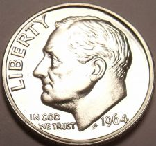 Buy 90% SILVER 1964 ROOSEVELT DIME<AWESOME>FREE SHIPING~