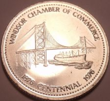 Buy Huge Unc 1976 Windsor Ontario Centennial Medallion~Suspension Bridge~Free Ship