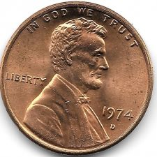 Buy United States Unc 1974-D Lincoln Memorial Cent~Free Shipping