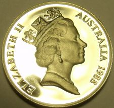 Buy CAMEO PROOF AUSTRALIA 1988 5 CENTS~SHORT-BEAKED SPINEY ANT-EATER~FREE SHIPPING~
