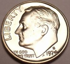 Buy United States 1974-S Proof Roosevelt Dime~Free Shipping