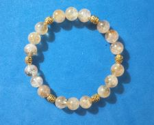 Buy Handmade 0ne-Of-A-Kind Bracelet with Translucent Citrine Beads