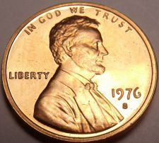 Buy United States Scarce 1976-S Proof Lincoln Cent~Bicentennial Cent~Free Shipping