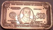 Buy Gem Unc .999 Solid Copper $500.00 Ignot~Bullion~One Ounce~Excellent~Free Ship