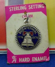 "Buy VINTAGE CHARM: sterling 1976 "" HARD ENAMEL "" BICENTENNIAL on card / FORT marked"