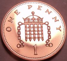 Buy Cameo Proof Great Britain 2000 Penny~Badge Of King Henry VII~100k Minted~Fr/Ship