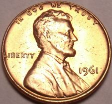 Buy United States Unc 1961-P Lincoln Memorial Cent~Free Shipping