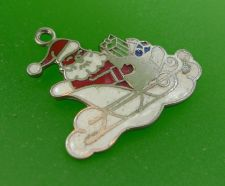 Buy Santa's Sleigh Sterling & Enamel Christmas Charm