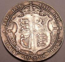 Buy Huge Rare Silver Great Britain 1908 Half Crown~We Have Great Britain Silver~F/S~