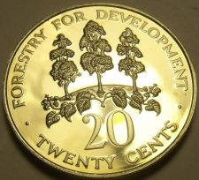 Buy Extremely Rare Proof Jamaica 1981 20 Cents~1,577 Minted~Mahoe Tree~Free Shipping
