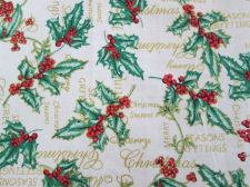 Buy Lucky Green Leaves Red Cherry Sewing Cotton Fabric 1.5 yard 44 inch 112 x 135 cm
