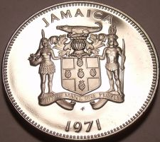 Buy Rare Proof Jamaica 1971 10 Cents~14,000 Minted~Lignum Vitale~Free Shipping
