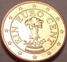 Buy Gem Unc Austria 2002 1 Euro Cent~Gentian flower~Minted In Vienna~Free Shipping