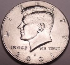 Buy United States Unc 2001-D Kennedy Half Dollar~Free Shipping