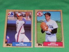 Buy VINTAGE 1987 TOPPS BASEBALL CARD LOT #7 GD-VG