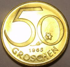 Buy Proof Austria 1965 50 Groschen~Check Our Store For Proof Coins~83,000 Minted~F/S