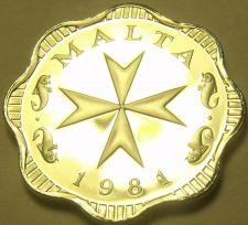 Buy Rare Proof Malta 1981 2 Mils~Maltese Cross~1,453 Minted~Incredible~Free Shipping
