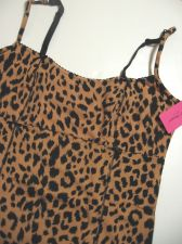 Buy A0061 Betsey Johnson NEW Brown Animal Prints Stretch Cotton Camisole 728710T PR
