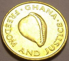 Buy Gem Uncirulated Ghana 1984 Cedi~Excellent~Cowrie Shell~Free Shipping