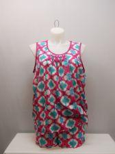 Buy PLUS SIZE 2X Women 2PC Shorty PJ Set SECRET TREASURES Tropical Blossom Print