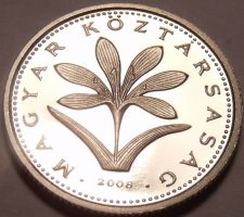 Buy Rare Proof Hungary 2008-BP 2 Forint~Only 4,000 Minted~Colchicum Hungaricum~Fr/Sh