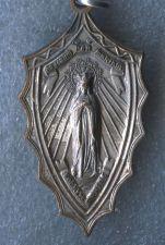 Buy Vintage Catholic Religious Holy Medal Ad Jesum Per Mariam Sodalis Aspirans